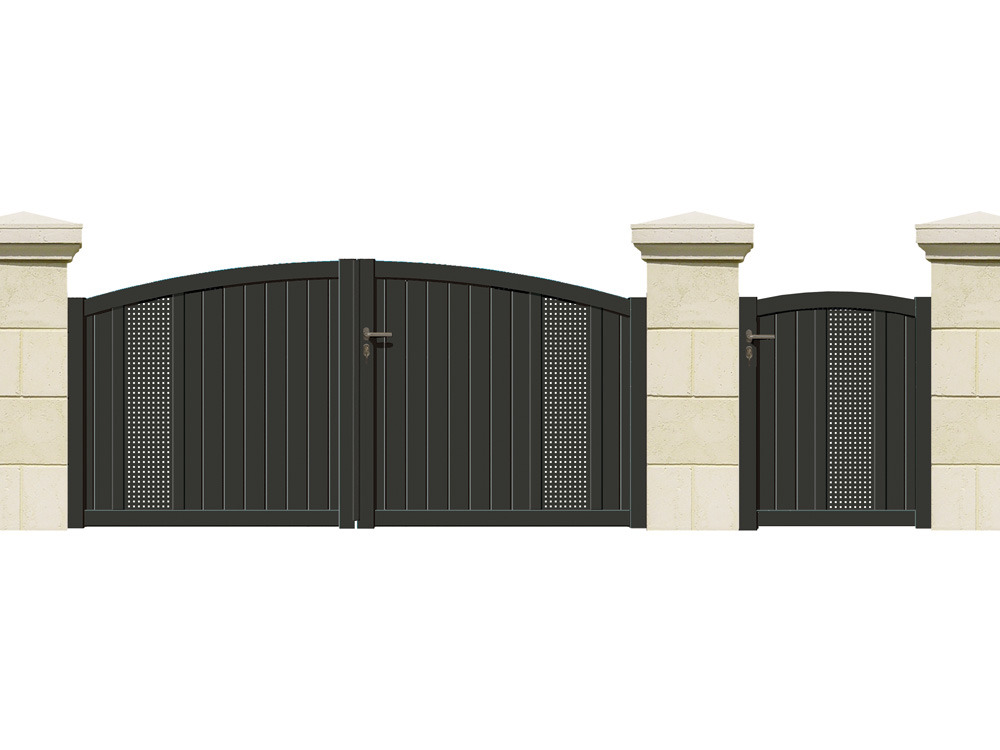 portail battant cernier aluminium 3 m 61739. Black Bedroom Furniture Sets. Home Design Ideas