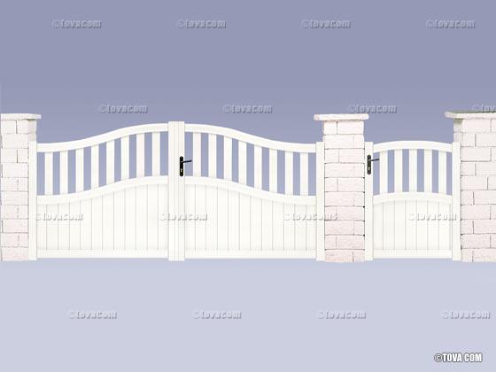 portail alu assembl hippocampe m 37906 37908. Black Bedroom Furniture Sets. Home Design Ideas