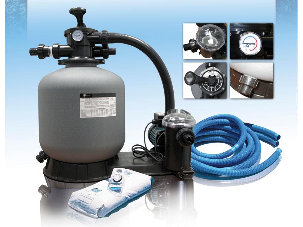 filtration piscine  u00e0 sable - cuve 24 u0026quot  pvc - 6 v - 11m3  h