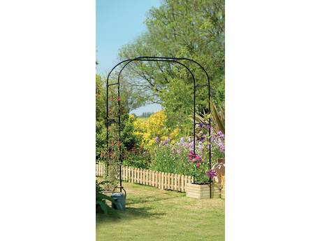 "Arche jardin ""Arch Extra Wide"" - 2.28 x 1.52 m - Noir"