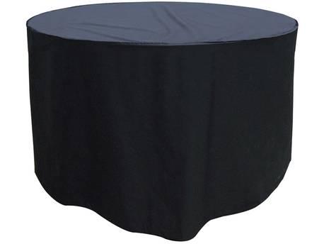 Housse premium pour table ronde de jardin + 4/6 chaises - Ø 188 x 89 cm - Noir