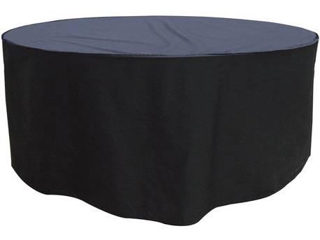 Housse premium pour table ronde de jardin + 6/8 chaises - Ø 250 x 89 cm - Noir