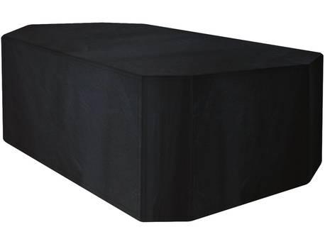 Housse premium pour table rectangulaire de jardin + 6 chaises - 270 x 180 x 89 cm - Noir
