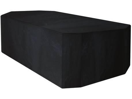 Housse premium pour table rectangulaire de jardin +8/10 chaises - 320 x 190 x 89 cm - Noir