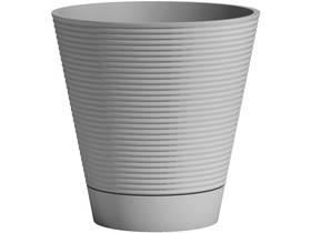"""Lot de 2 pots à fleurs """"Green Care Sense + Reserve"""" - 13 L - Ø 30 x H.30 cm - Bleu gris"""