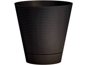 """Lot de 2 pots à fleurs """"Green Care Sense + Reserve"""" - 13 L - Ø 30 x H.30 cm - Anthracite"""