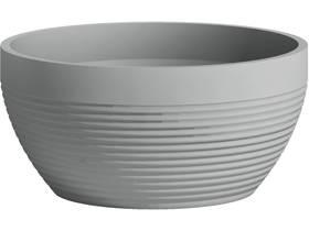 """Lot de 3 pots à fleurs """"Green Care Impact Cup"""" - 5 L - Ø 25 x H.12 cm - Bleu gris"""