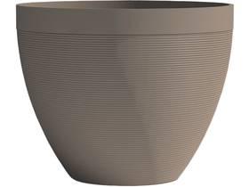 "Pot à fleurs ""Green Care Impact"" - 28 L - Ø 40 x H.31 cm - Taupe"