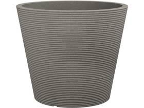 """Lot de 2 pots à fleurs """"Roto Coneo"""" - 10 L - Ø 30 x H.24 cm - Taupe"""