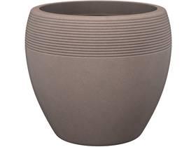 """Lot de 2 pots à fleurs """"Roto Lineo"""" - 11 L - Ø 29 x H.25 cm - Taupe granit"""