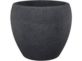 """Lot de 2 pots à fleurs """"Roto Lineo"""" - 11 L - Ø 29 x H.25 cm - Noir granit"""