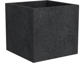 """Lot de 2 pots à fleurs """"Roto Cube"""" - 18 L - 28 x 28 cm - Noir"""