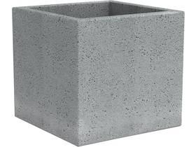 """Lot de 2 pots à fleurs """"Roto Cube"""" - 18 L - 28 x 28 cm - Gris"""