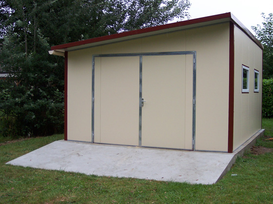 Garage m tal albertville 20m 5 x 4 x m for Garage en bois 20m2
