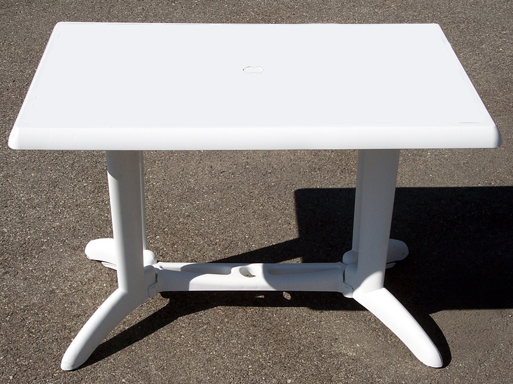 table de jardin balcon blanc 110 x 70 cm 61850. Black Bedroom Furniture Sets. Home Design Ideas