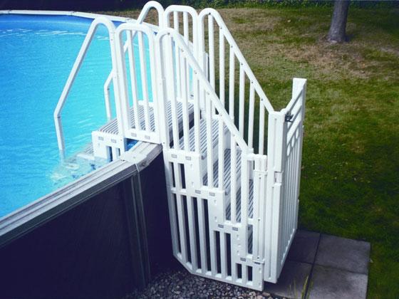 ensemble deux escaliers avec une barri re et portillon 27189. Black Bedroom Furniture Sets. Home Design Ideas