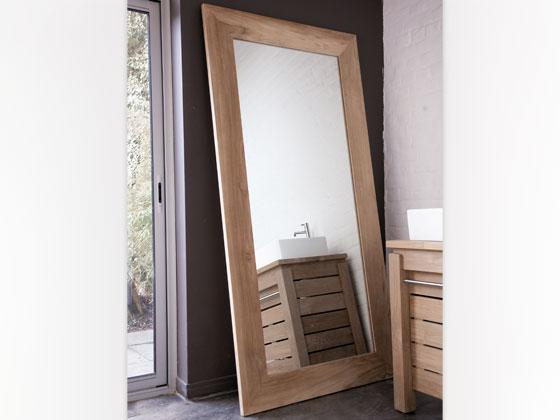 Miroir en teck massif 165 x 90 x 3 cm 25359 for Miroir 50 x 90