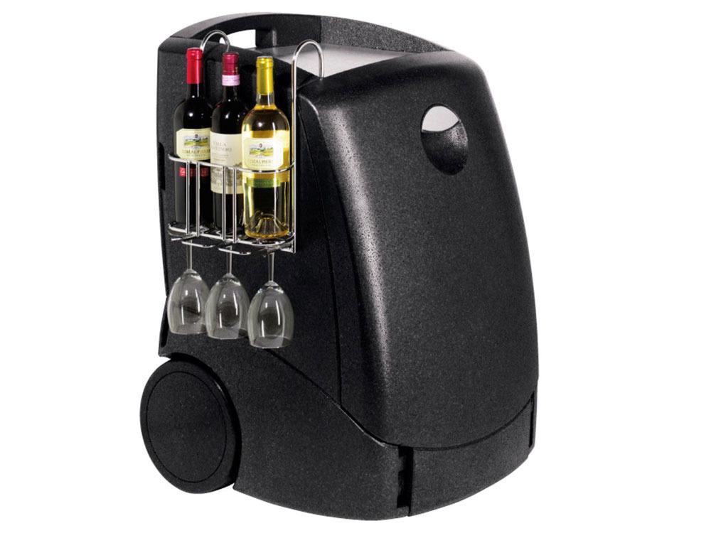 glaci re mini bar ezetil e50 230 12v rollbar avec roulettes 38474. Black Bedroom Furniture Sets. Home Design Ideas
