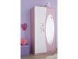 """Armoire """"Papillon"""" - 93.3 x 51.5 x 182.8 cm - Rose orchidée/blanc perle"""