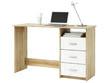 "Bureau ""Aristote"" - 123 x 50,1 x 76,5 cm  - Chêne brossé / Blanc perle"