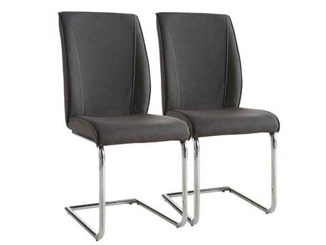 """Lot de 2 chaises """"Alister"""" - Gris foncé"""
