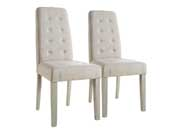 "Lot de 2 chaises ""Alvis"" - Beige"