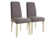 """Lot de 2 chaises """"Alvis"""" - Taupe"""