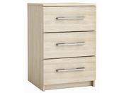 """Chevet """"New York"""" - Chêne shannon - 3 tiroirs - 42,5 x 64,1 x 41,7 cm"""