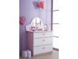"""Commode """"Papillon"""" - 84.7 x 50.1 x 97.2 cm - Rose orchidée/blanc perle"""