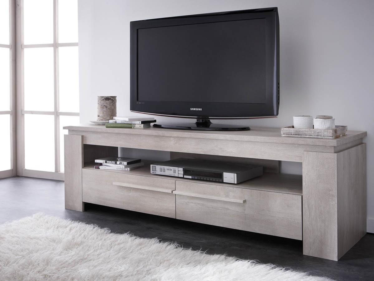 Banc Tv Segur 140 X 42 X 47 Cm Ch Ne Champagne 68727 # Table Tele Taille Haute Moderne Chambre