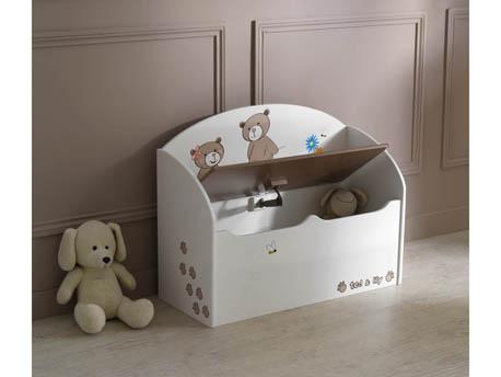 """Coffre à jouets """"Ted & Lily"""" - 69.5 x 29.5 x 55.5 cm - Chocolat/beige"""