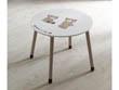 "Table enfant ""Ted & Lily"" - Ø 60 x 50 cm - Chocolat/beige"