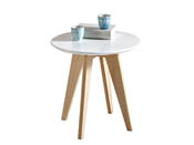 "Table basse  ""Rondo"" - 40 x 40 x 40 cm - Blanc"