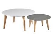 "Tables basses ""Round"" - 78 x 78 x 35 cm - Blanc"
