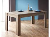 "Table repas ""Steen"" - 170 x 90 x 77 cm - Chêne foncé"