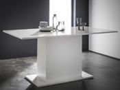 "Table repas ""Icy"" -  170 x 90 x 77 cm - Blanc brillant"