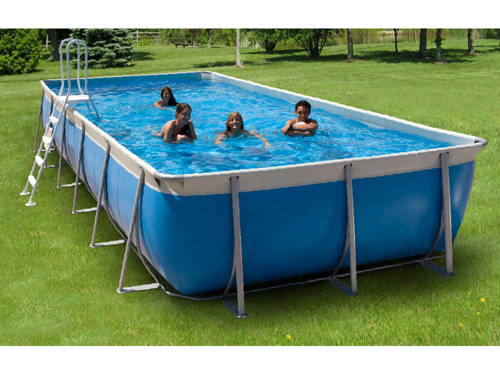 Piscine autoportante en kit tubulaire allong e laguna 650 for Piscine tubulaire bois