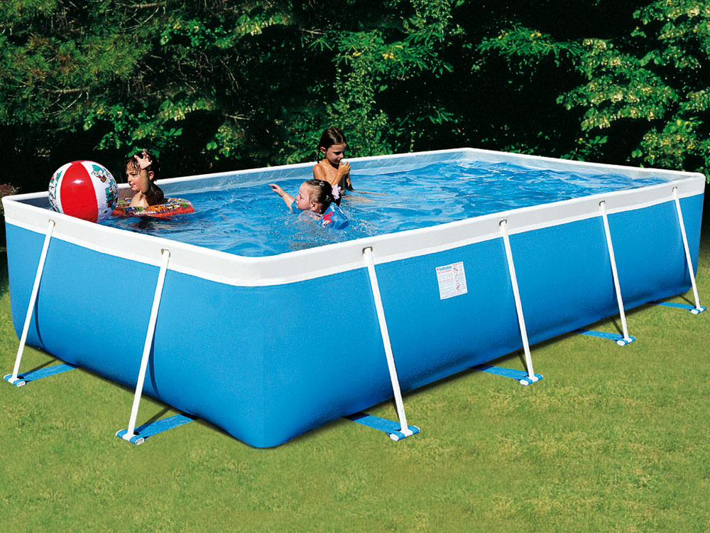Piscine autoportante en kit tubulaire allong e bahia 400 for Piscine hors sol pvc arme