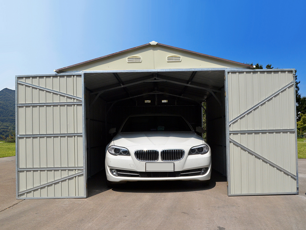 Garage m tal nevada avec porte battante 64228 for Garage en bois 20m2