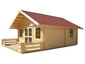 """Chalet jardin bois   """"Lillevilla 221"""" - 28.50 m² - 5,00 x 5,70 x 3.72 m - 45 mm"""