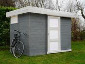"Abri jardin bois ""Lund"" - 6.69 m² - 3.03 x 2.21 x 2.07 m - 19 mm"
