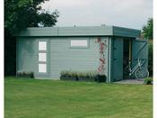 """Garage """"Moderne"""" - 22.65 m² - 5.74 x 3.94 x 2.56 m - 40 mm"""