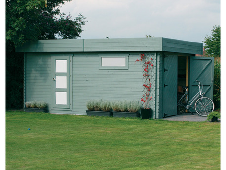 "Garage ""Moderne"" - 22.65 m² - 5.74 x 3.94 x 2.56 m - 40 mm - Porte traditionnelle"