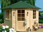 Abri jardin bois  - 7.85 m² - 4.23 x 2.98 x 2.74 m - 28 mm