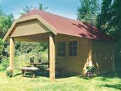 """Abri jardin """"Cork"""" - 20.25 m² - 3.50 x 5.78 x 3.09 m - 28 mm"""