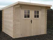 Abri jardin bois - 5.33 m² - 2.6 x 1.16 x 0.48 m - 28 mm.