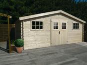 Abri jardin - 22.48 m² - 5.29 x 4.25 x 2.32 m - 28 mm.