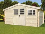 Abri de jardin - 12.54 m² - 4.13 x 3.05 x 2.18 m - 34 mm.