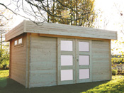 """Abri jardin bois """"Viborg"""" - 16.55 m² - 4.54 x 3.64 x 2.28 - 40 mm"""