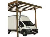 Carport base 3 x 5 - hauteur 4 m - traité autoclave